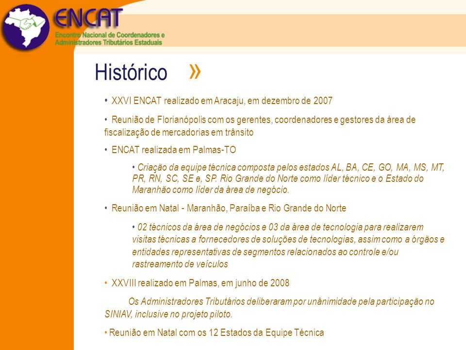 Histórico » XXVI ENCAT realizado em Aracaju, em dezembro de 2007