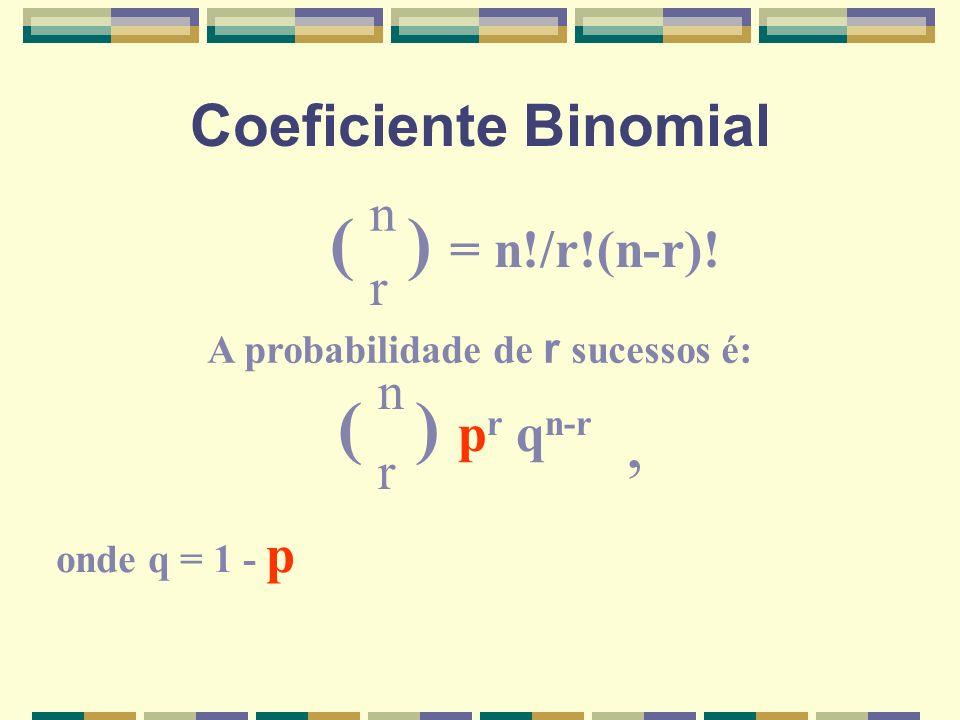 A probabilidade de r sucessos é: