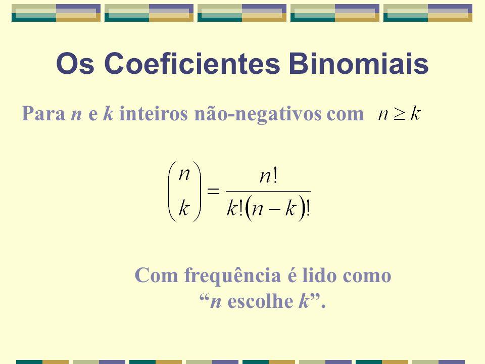 Os Coeficientes Binomiais