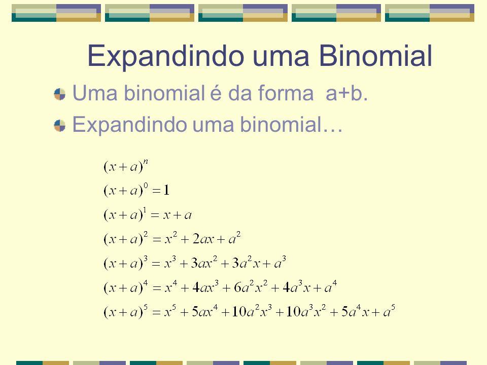 Expandindo uma Binomial