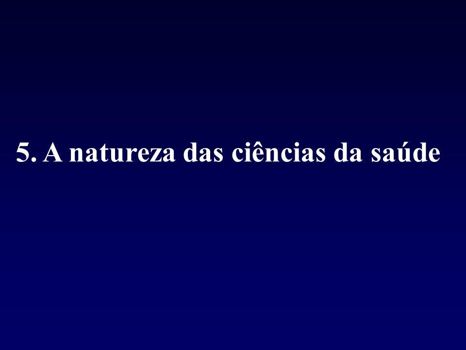 5. A natureza das ciências da saúde