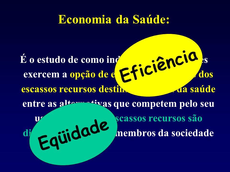 Eficiência Eqüidade Economia da Saúde: