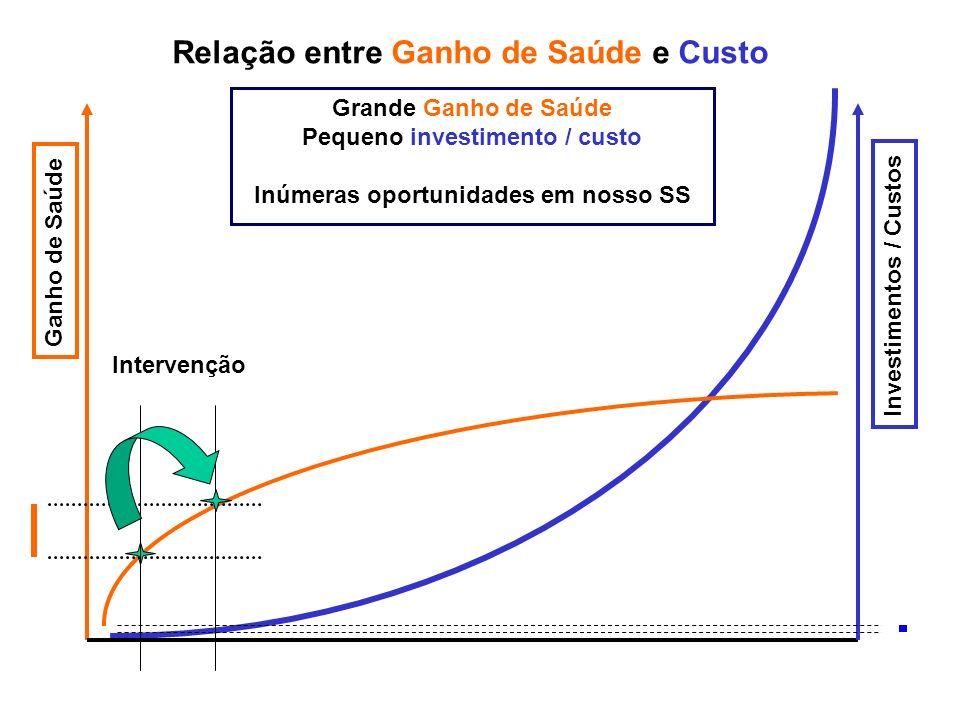 Pequeno investimento / custo Inúmeras oportunidades em nosso SS