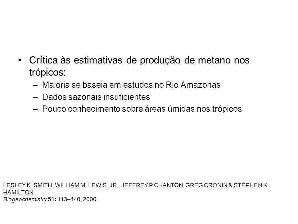 Crítica às estimativas de produção de metano nos trópicos: