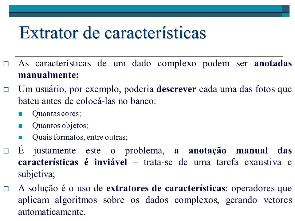Extrator de características