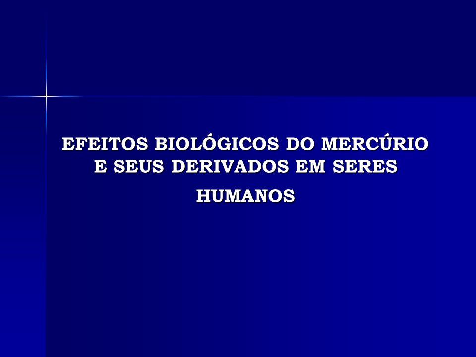EFEITOS BIOLÓGICOS DO MERCÚRIO E SEUS DERIVADOS EM SERES HUMANOS
