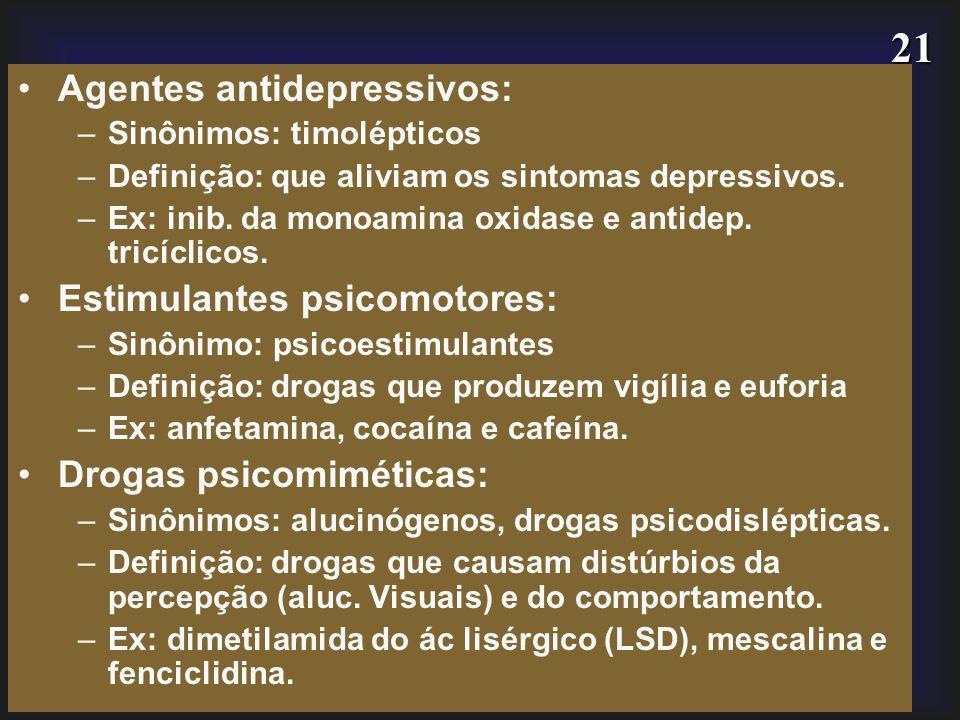 Agentes antidepressivos: