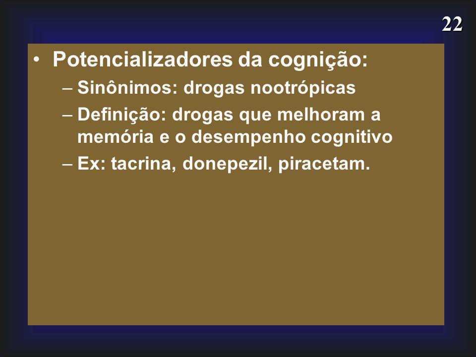 Potencializadores da cognição: