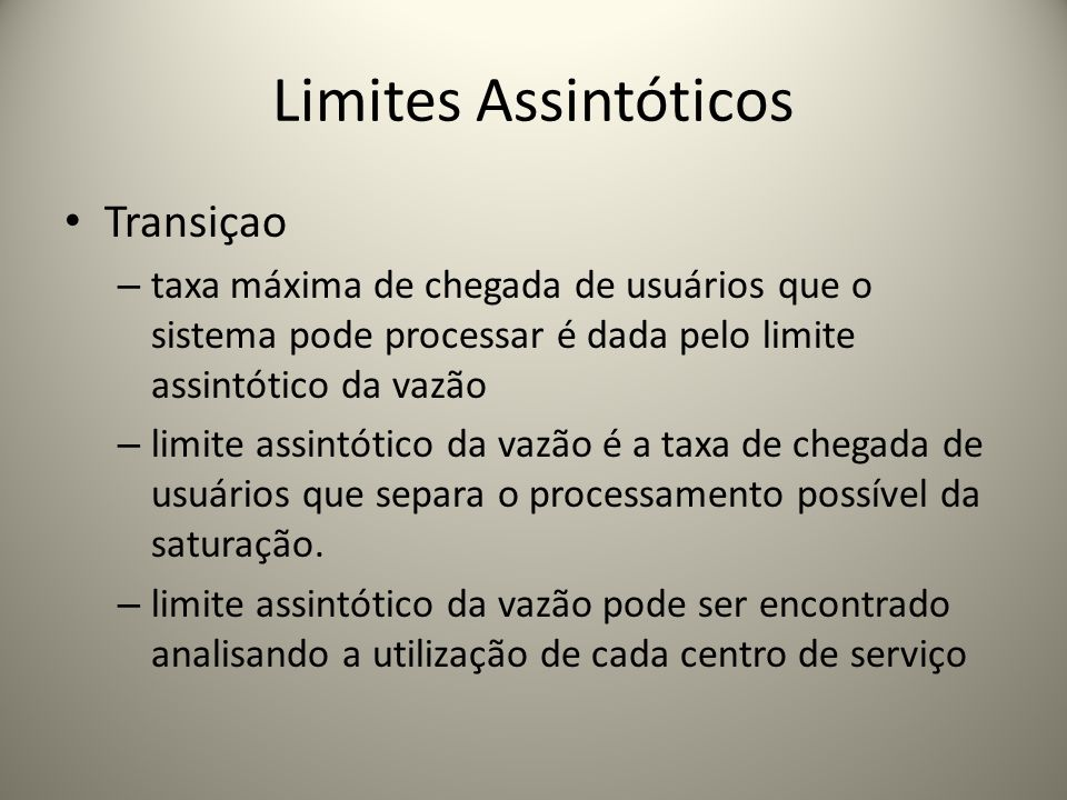 Limites Assintóticos Transiçao
