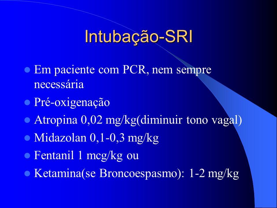 Intubação-SRI Em paciente com PCR, nem sempre necessária