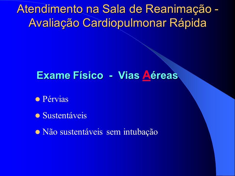 Atendimento na Sala de Reanimação -Avaliação Cardiopulmonar Rápida