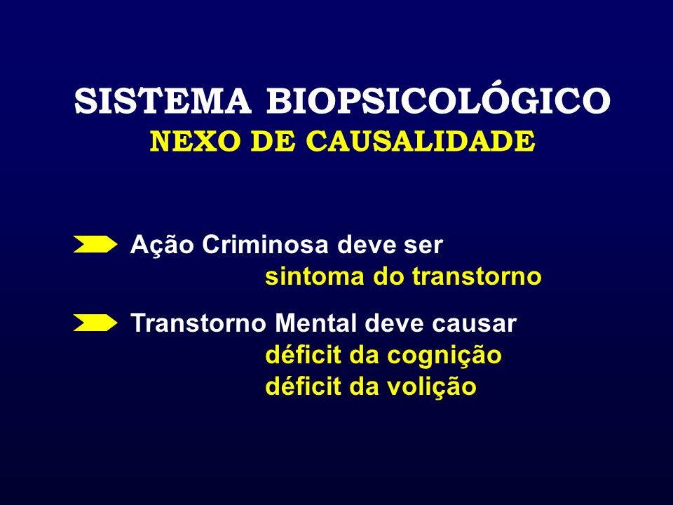 SISTEMA BIOPSICOLÓGICO NEXO DE CAUSALIDADE
