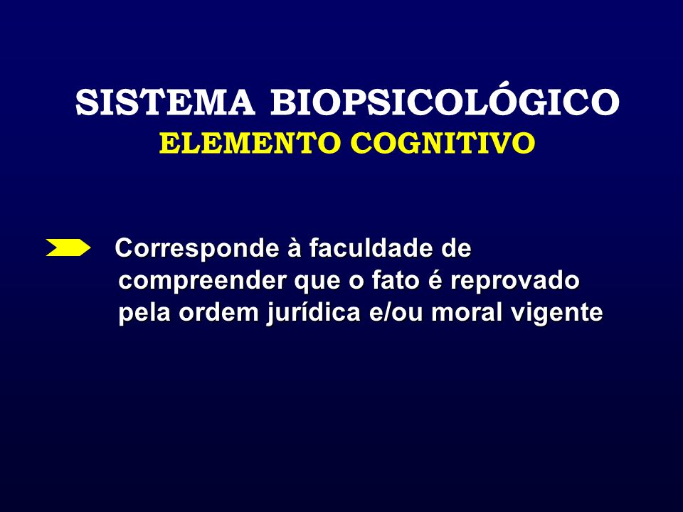 SISTEMA BIOPSICOLÓGICO ELEMENTO COGNITIVO
