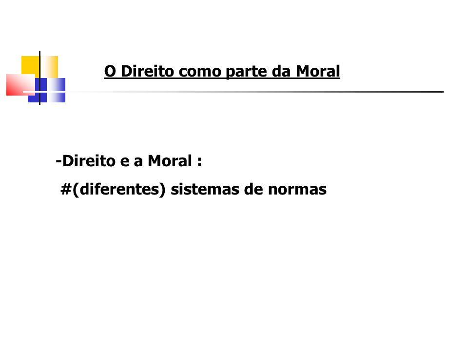 O Direito como parte da Moral