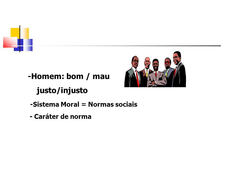 -Sistema Moral = Normas sociais