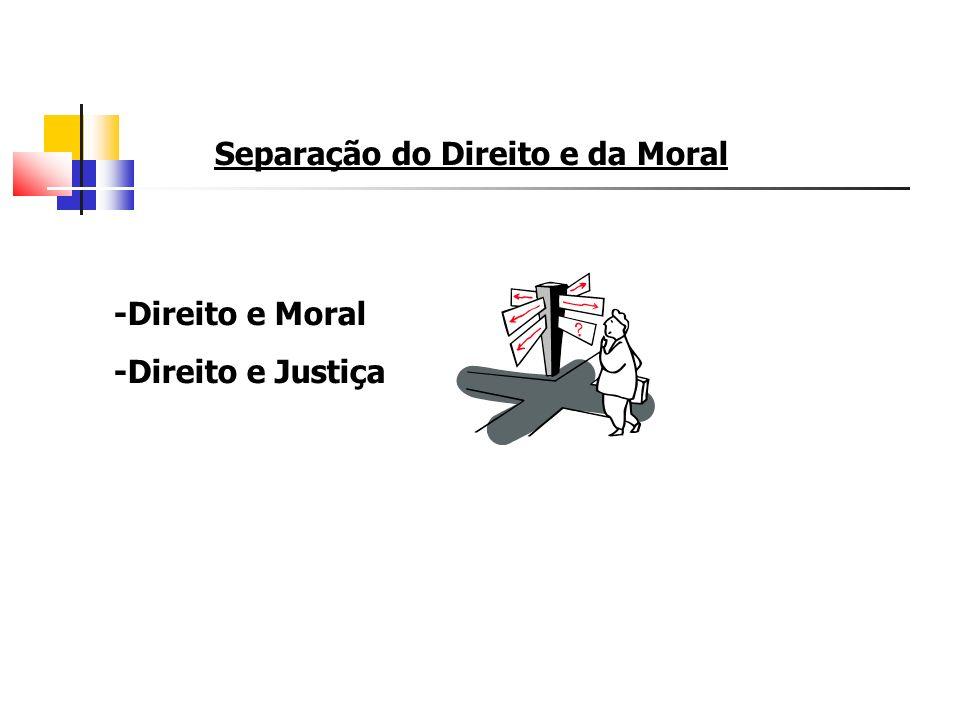 Separação do Direito e da Moral