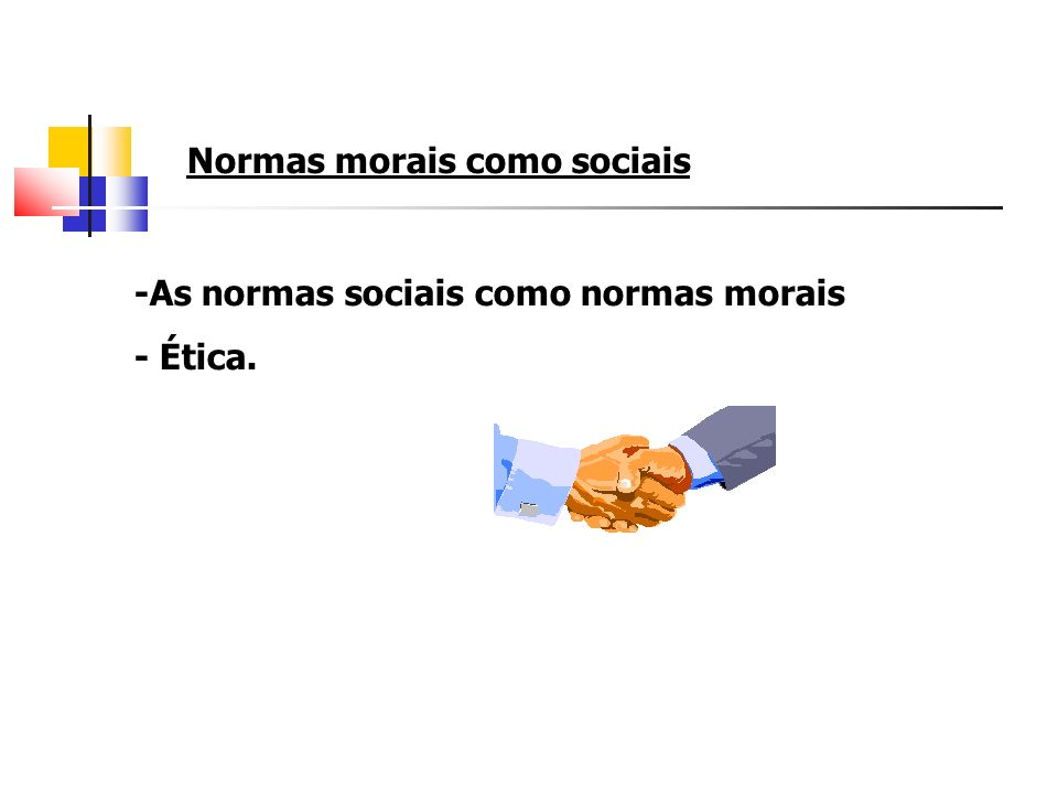 Normas morais como sociais