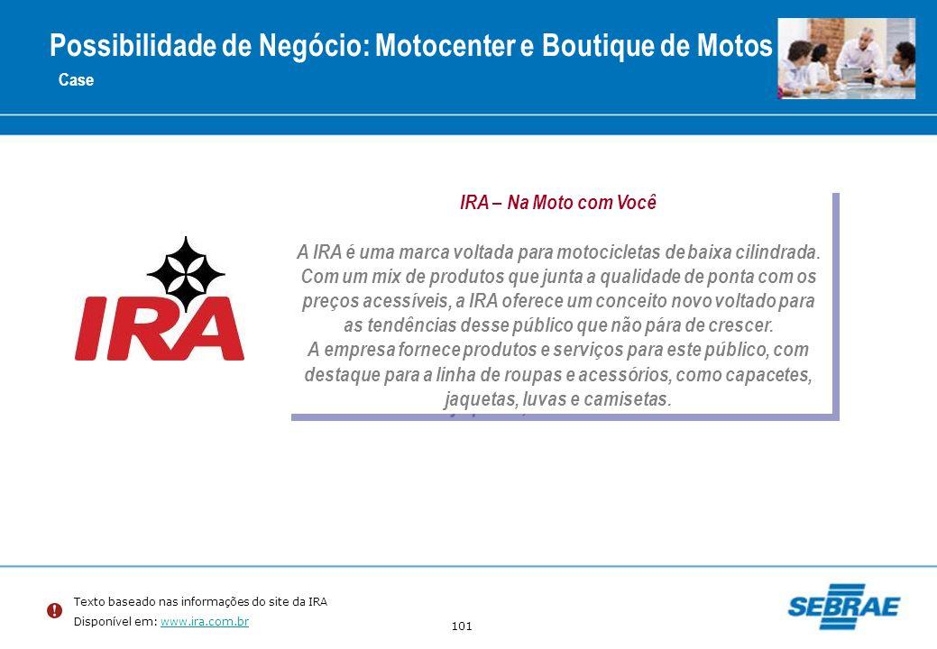 Possibilidade de Negócio: Motocenter e Boutique de Motos