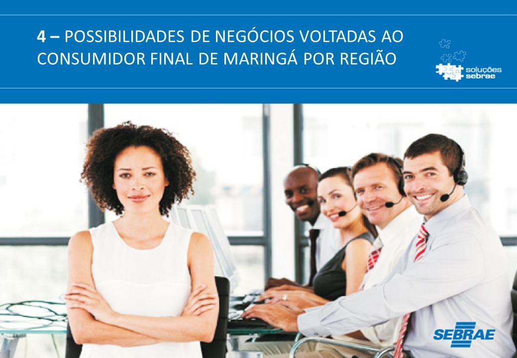 4 – POSSIBILIDADES DE NEGÓCIOS VOLTADAS AO CONSUMIDOR FINAL DE MARINGÁ POR REGIÃO