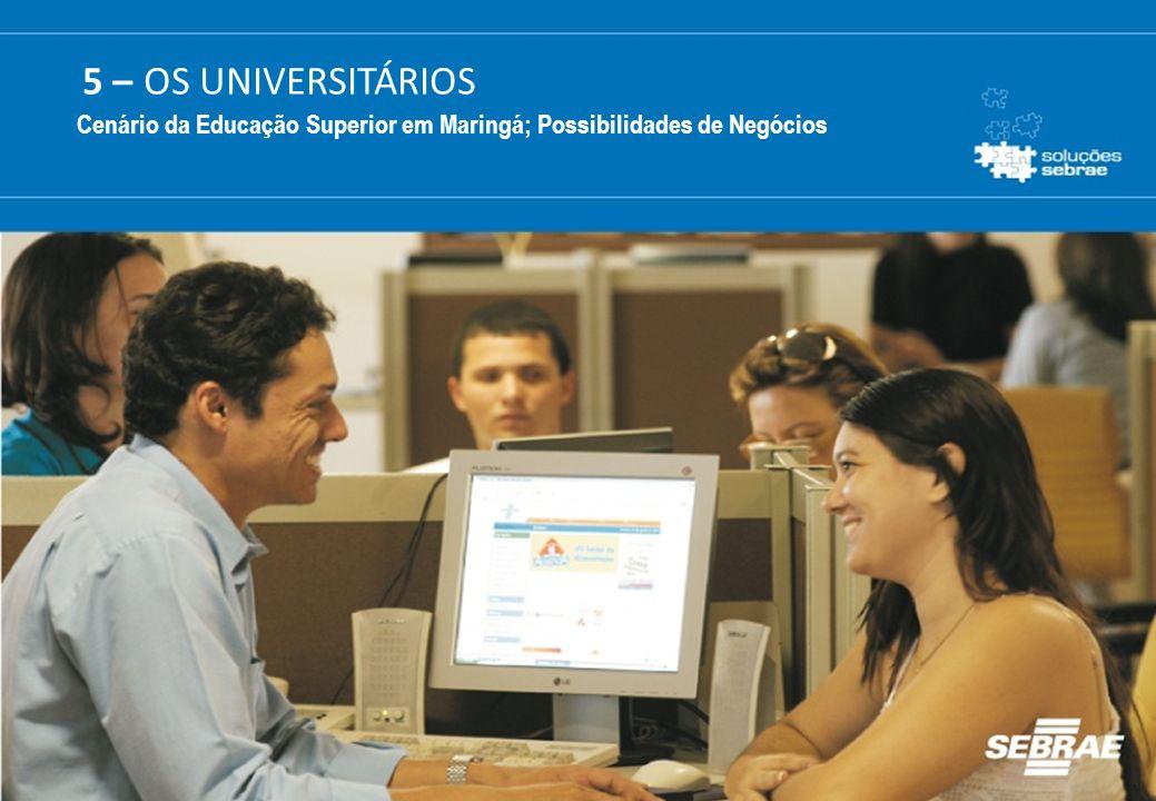 5 – OS UNIVERSITÁRIOS Cenário da Educação Superior em Maringá; Possibilidades de Negócios
