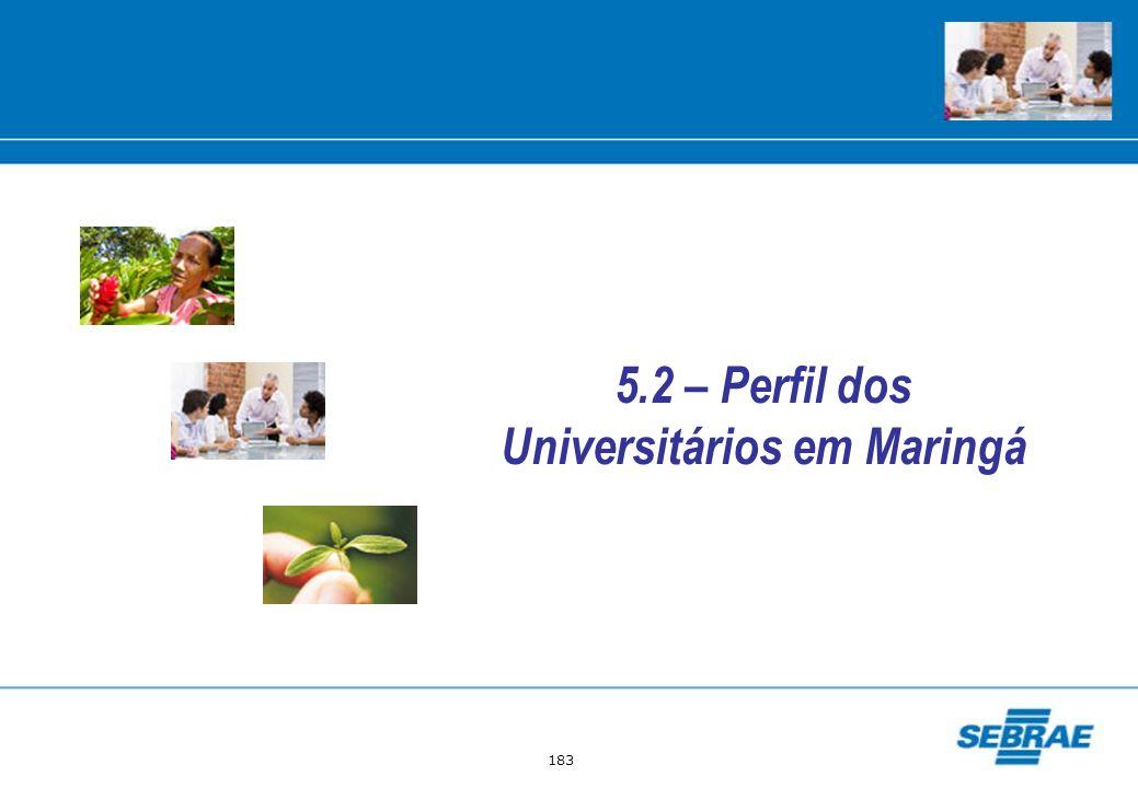 5.2 – Perfil dos Universitários em Maringá