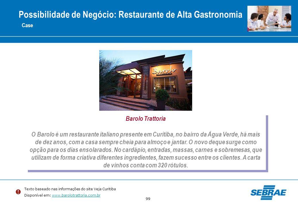 Possibilidade de Negócio: Restaurante de Alta Gastronomia