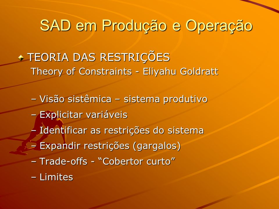 SAD em Produção e Operação