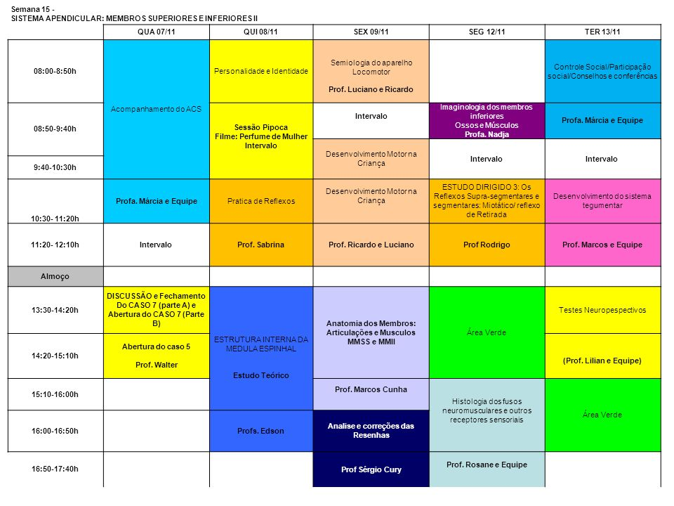 SISTEMA APENDICULAR: MEMBROS SUPERIORES E INFERIORES II QUA 07/11