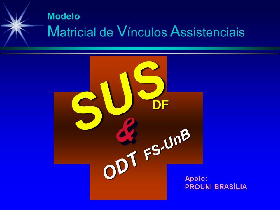 SUS & DF ODT FS-UnB Modelo Matricial de Vínculos Assistenciais Apoio: