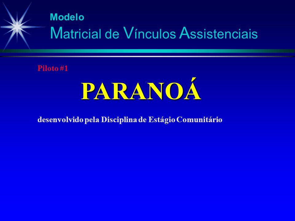 PARANOÁ Modelo Matricial de Vínculos Assistenciais Piloto #1