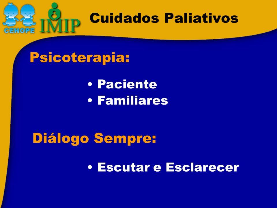 Cuidados Paliativos Psicoterapia: Diálogo Sempre: Paciente Familiares