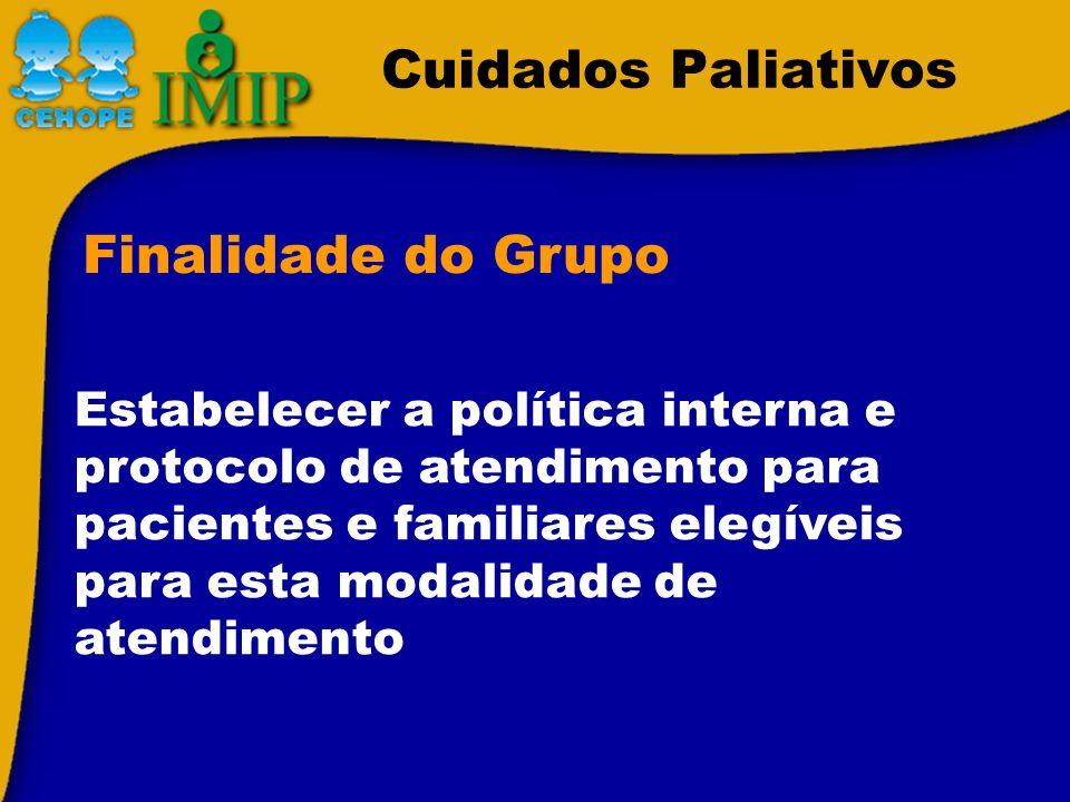 Cuidados Paliativos Finalidade do Grupo