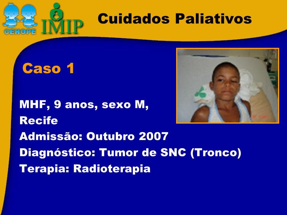 Cuidados Paliativos Caso 1 MHF, 9 anos, sexo M, Recife