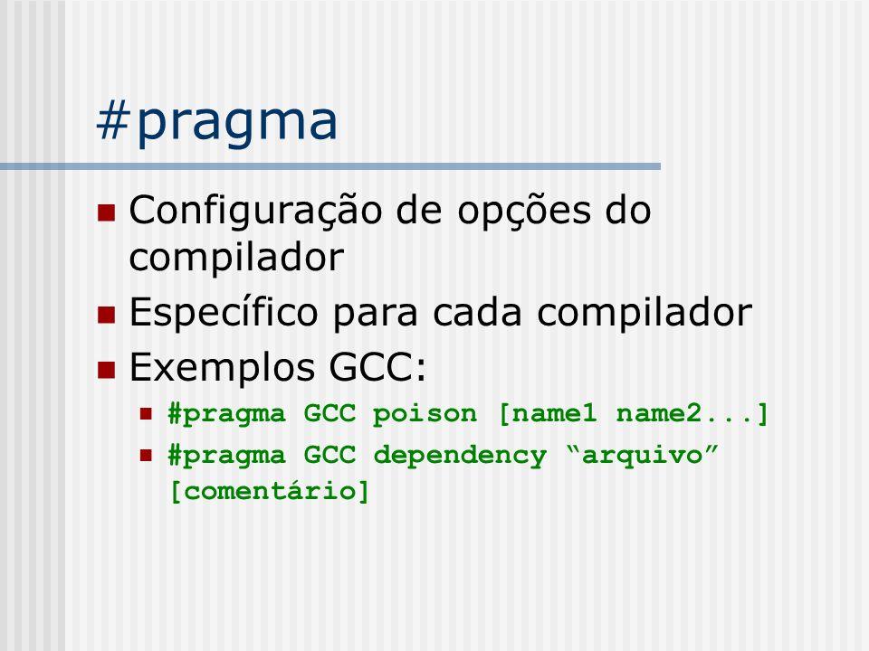 #pragma Configuração de opções do compilador