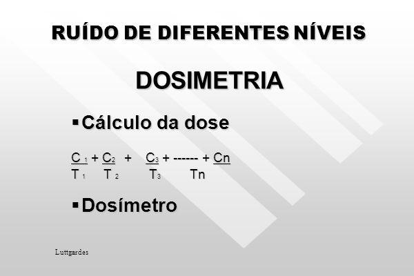 RUÍDO DE DIFERENTES NÍVEIS DOSIMETRIA