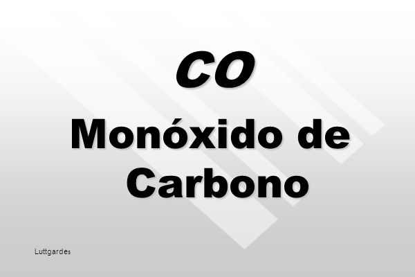 CO Monóxido de Carbono Luttgardes