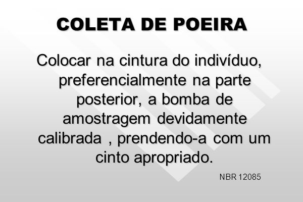 COLETA DE POEIRA