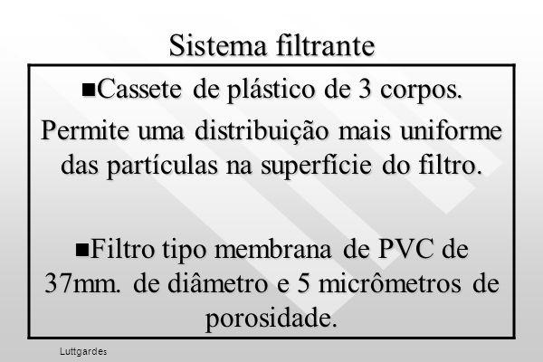 Cassete de plástico de 3 corpos.