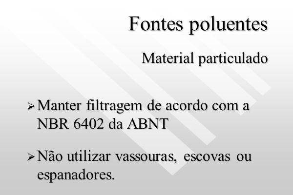 Fontes poluentes Material particulado