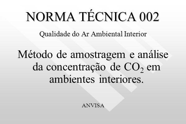 NORMA TÉCNICA 002 Qualidade do Ar Ambiental Interior
