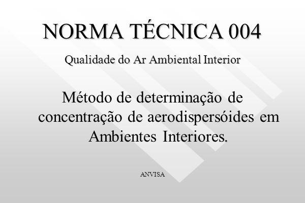 NORMA TÉCNICA 004 Qualidade do Ar Ambiental Interior