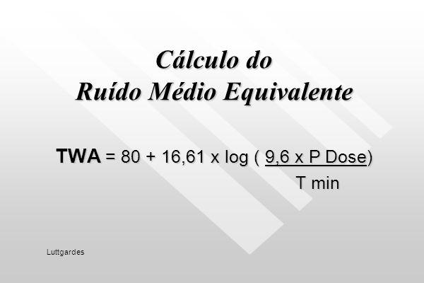 Cálculo do Ruído Médio Equivalente