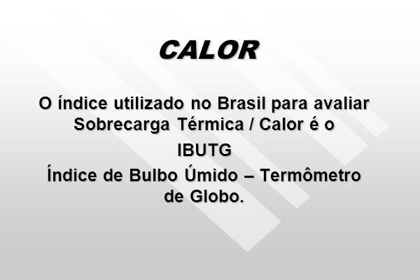 Índice de Bulbo Úmido – Termômetro de Globo.