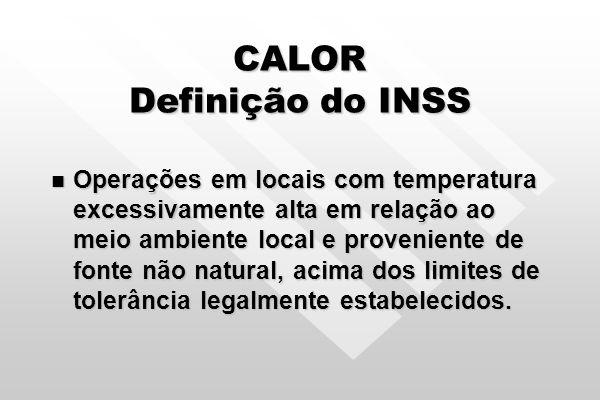 CALOR Definição do INSS