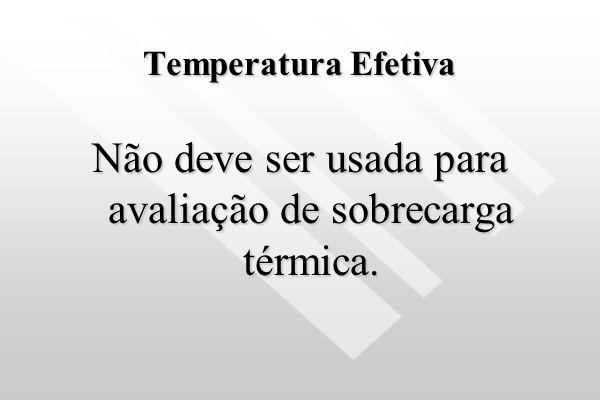 Não deve ser usada para avaliação de sobrecarga térmica.
