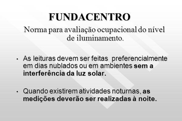 Norma para avaliação ocupacional do nível de iluminamento.