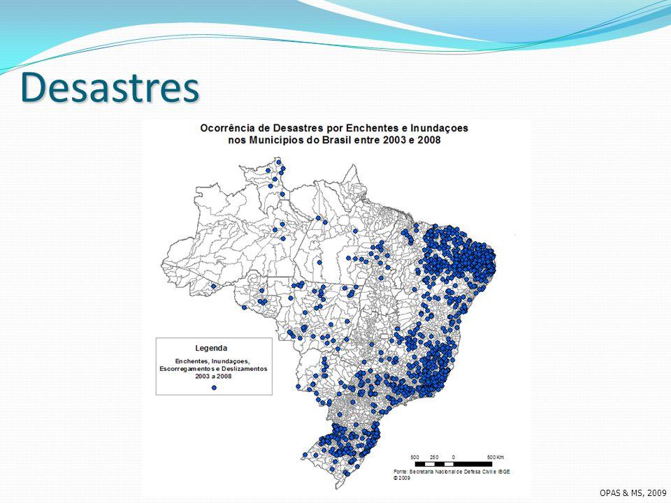 Desastres OPAS & MS, 2009