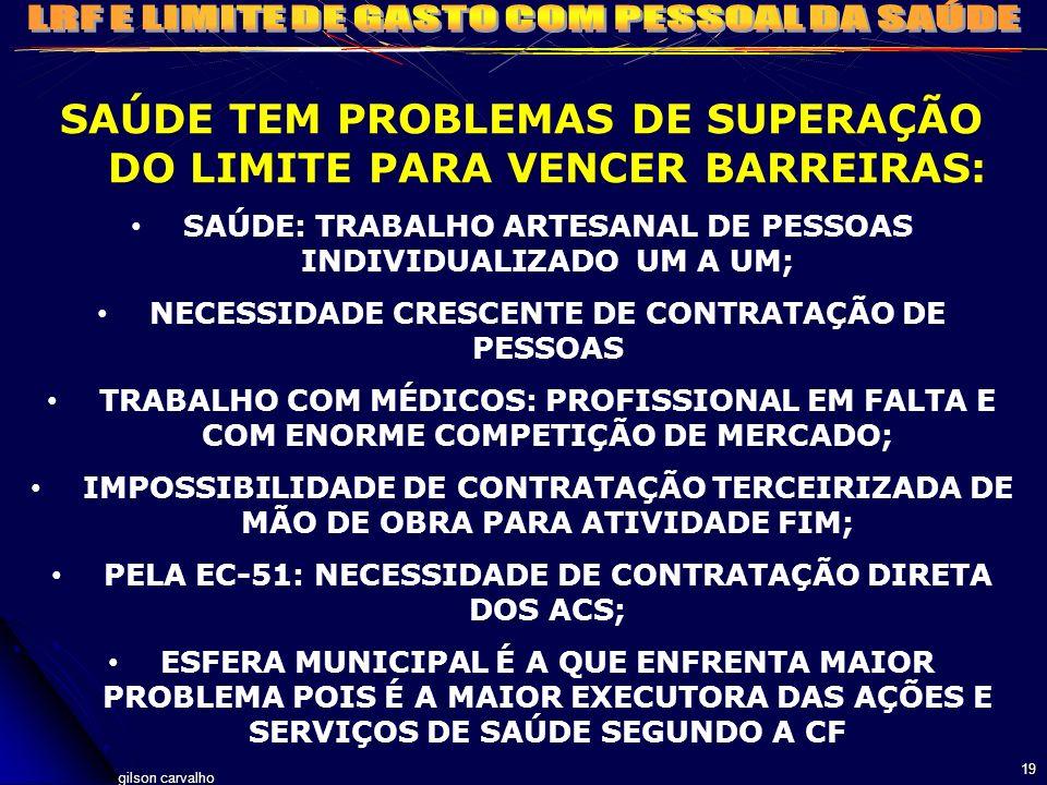 SAÚDE TEM PROBLEMAS DE SUPERAÇÃO DO LIMITE PARA VENCER BARREIRAS:
