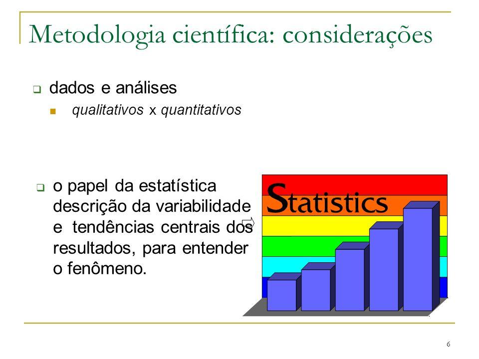Metodologia científica: considerações