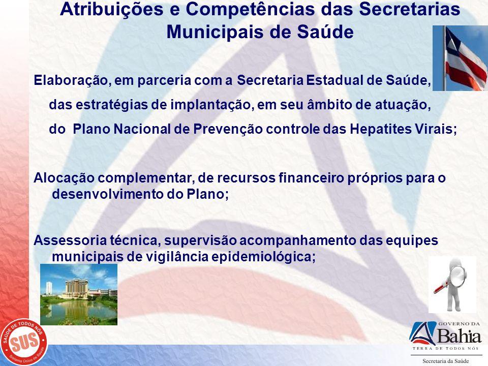 Atribuições e Competências das Secretarias Municipais de Saúde